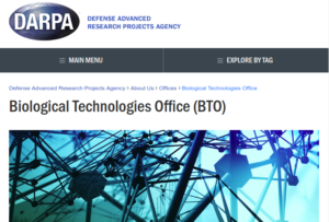 DARPA BTO web site home-page